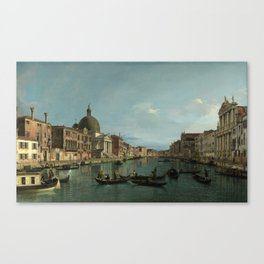 A View of the Grand Canal by Canaletto Canvas Print