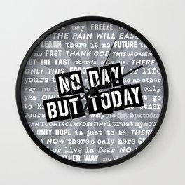 NO DAY BUT TODAY - Rent Lyrics Wall Clock