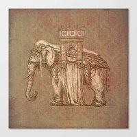 bastille Canvas Prints featuring Elephant Bastille by Bluepress