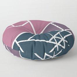 gradient triangles Floor Pillow