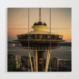 Space Needle (close-up) Wood Wall Art