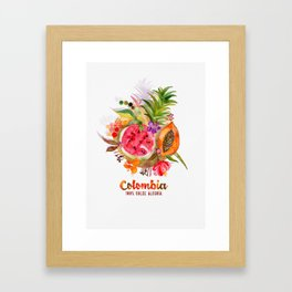 Fruits of Colombia | Frutas Colombianas Framed Art Print