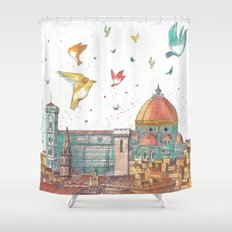 Colors of Florence Shower Curtain