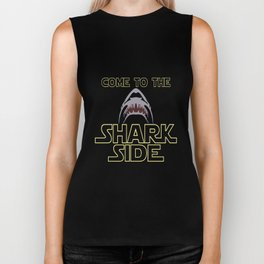 come to the shark side for shark lovers shark hunt Biker Tank