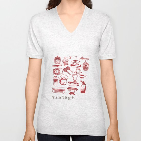kitchen vintage Unisex V-Neck