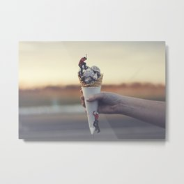 Ice Cream Everest Metal Print