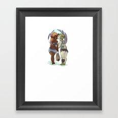 Water Run Framed Art Print
