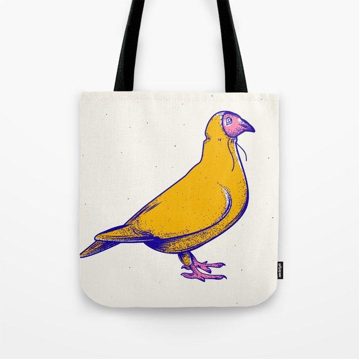 Pigeon in hoodie Tote Bag