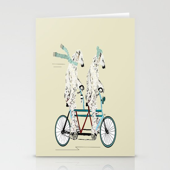 polar bears lets tandem Stationery Cards