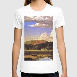 West Rock, New Haven, Connecticut Landscape by Frederic Edwin Church T-shirt