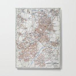 Vintage Map of The Berlin Germany Suburbs (1914) Metal Print
