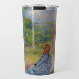 """Auguste Renoir """"Jeunes filles jouant au volant"""" Travel Mug"""