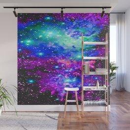 Fox Fur Nebula Galaxy Pink Purple Blue Wall Mural