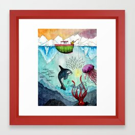 Surprises in the North Sea Framed Art Print