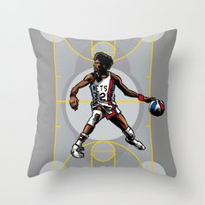 DR. J: On the Offensive Throw Pillow