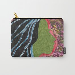 Black Hair Lady Carry-All Pouch