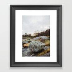 Winter landscape south of Norway Framed Art Print