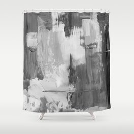 Paint (Black and White) Shower Curtain