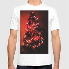 Christmas Tree. MEDIUM Mens Fitted Tee White