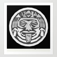 aztec wheel Art Print