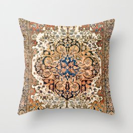 Ferahan Arak  Antique West Persian Rug Throw Pillow