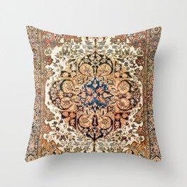 Ferahan Arak  Antique West Persian Rug Print Throw Pillow