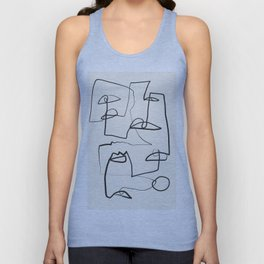 Abstract line art 12 Unisex Tank Top