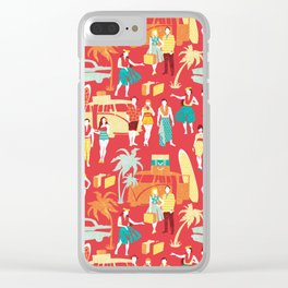 Hawaii elegance in action Clear iPhone Case