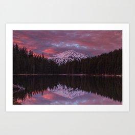 Mt. Bachelor sunrise reflection Art Print