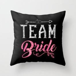 Team Bride - Bachelorette Hen Bridal Party Alcohol Throw Pillow