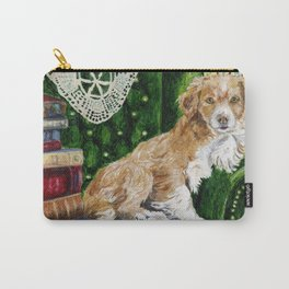 Sir Beckett, Dog With An Education Carry-All Pouch