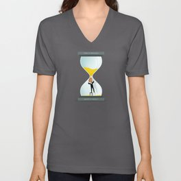 The Time Keeper Unisex V-Neck