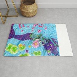 Floral Mermaid Rug