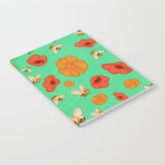 Poppies & Bees Notebook