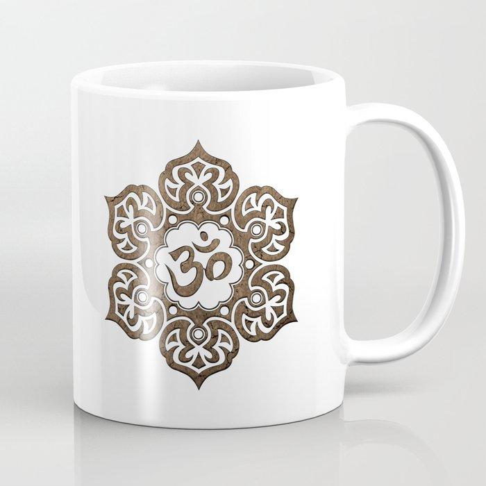 Aged stone lotus flower yoga om coffee mug by jeffbartels society6 aged stone lotus flower yoga om coffee mug mightylinksfo