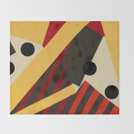 Abstract in Stripes and Dots Throw Blanket