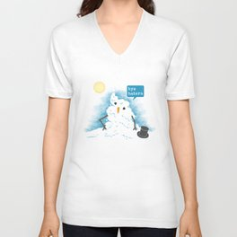 Snow Body Loves Me Unisex V-Neck