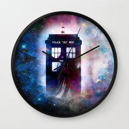 tardis nebula Wall Clock