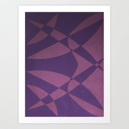 Wings and Saild - Purple and Pink Art Print