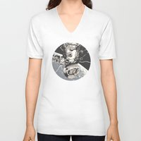 gravity V-neck T-shirts featuring Gravity by Señor Salme