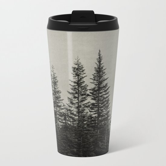 the edge of the forest Metal Travel Mug