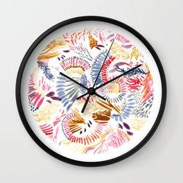 Coral Reef Watercolour Wall Clock