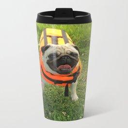 Happy pug. Metal Travel Mug