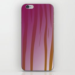 wild design exotic lines Pink iPhone Skin