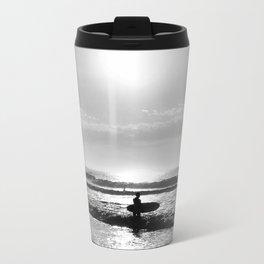 Surfer: looking out Metal Travel Mug