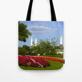 Battersea Power Station and Battersea Park Tote Bag