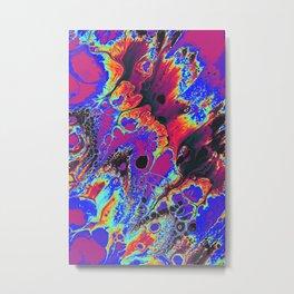 blue trippy psychedelic artwork wall print Metal Print