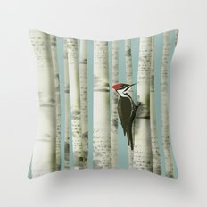 In the Trees Throw Pillow