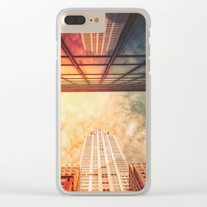 New York City Chrysler Building Up Up and Away Clear iPhone Case