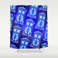 tardis Shower Curtains featuring The Tardis by Fimbis